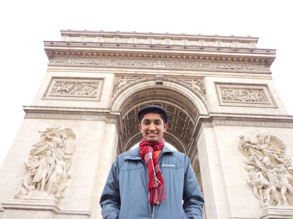 Justin Botejue at Arc De Triomphe-Paris