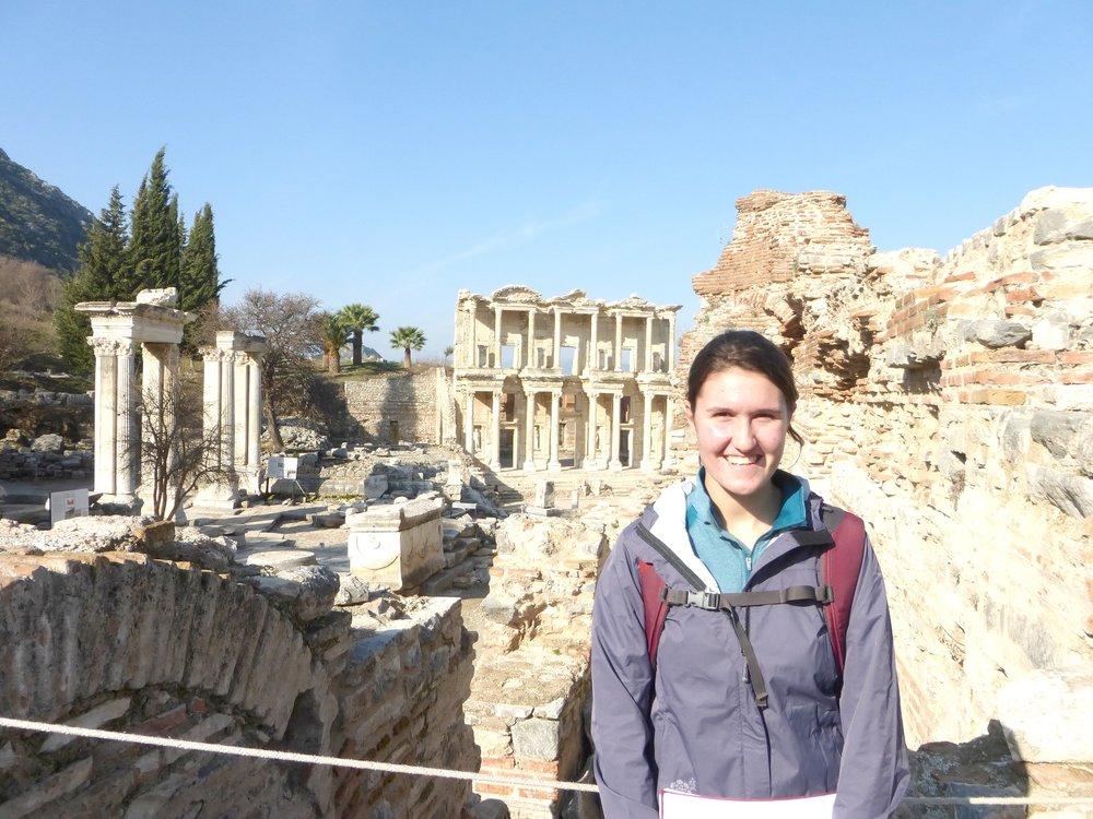 Rowanne Fairchild at Ephesus Ruins
